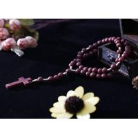 China Plastic beads cord rosary on sale