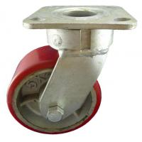 Buy cheap Heavy Duty Caster 5x2 inch industrial swivel casters with PU on cast iron wheels from wholesalers