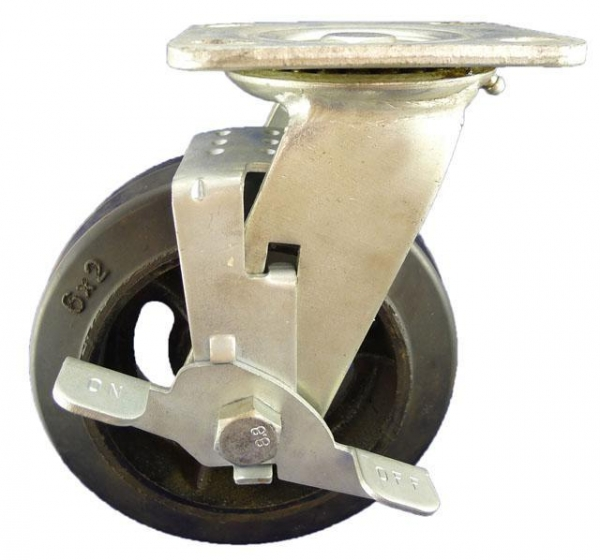 Cheap Heavy Duty Caster 8X2 industrial duty caster with brake for sale