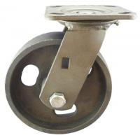 Best Heavy Duty Caster 6x2 inch industrial mouting plate swivel caster with cast iron wheel wholesale
