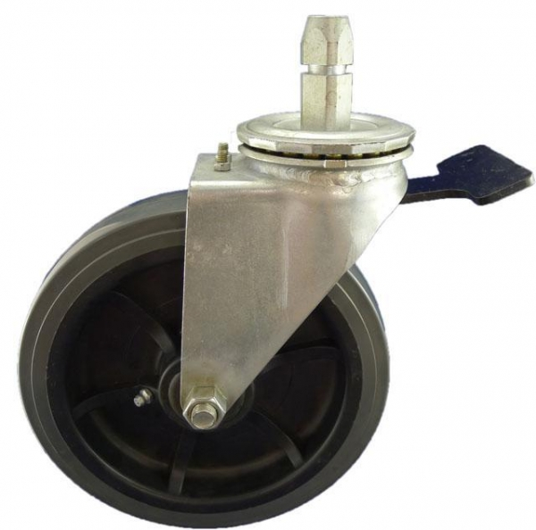 Cheap Heavy Duty Caster 8x2 inch industrial swivel stem caster with PU wheel for sale
