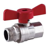 China Brass Butterfly Handle Ball Valve on sale