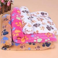 China Pet bed & Cushion Pet Dog Cat Blanket /Puppy Warm Bed Mat Paw Print Dog on sale