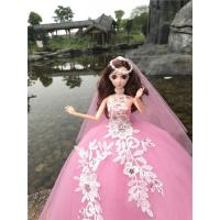 Best Beautiful Gown Bride Dress Clothes with Veil for Barbie Dolls Gift wholesale