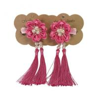 """China Unique petal with pearls"""" and tassel, flower hair clip, girl hair clip, girl hair accessories on sale"""