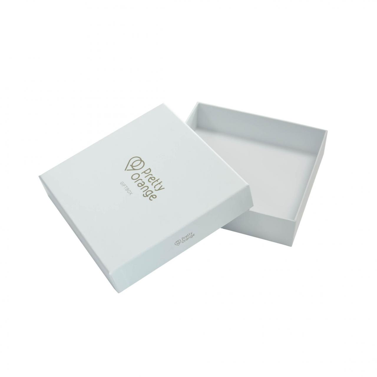 Embossed Logo Gold Stamping Lid Gift Boxes Inside Printed
