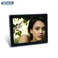 China 12.1inch metal frame timer switch function picture frame full HD v l c media player for pc on sale