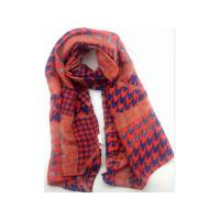 China Long style you own design 100% silk brushed scarf on sale