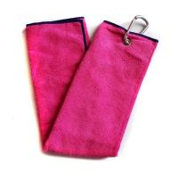 Buy cheap Idealmade Customized Logo Tri Fold Golf Towel Manufacturer from wholesalers