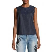 Best Rag & Bone/jean Sahara Denim Tank Top Indigo Women Apparel wholesale