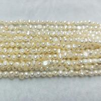 China 3-4mm AA grade fresh water nugget shape pearl beads on sale