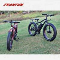 China FRANFUN 48v500w fat tire bicycle 26 inch fat tire electric mountain bike 48V13AH on sale