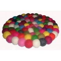 Buy cheap Handmade Felt Products 20CM Felt Trivet coaster from wholesalers