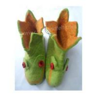 Best Handmade Felt Products Felt frog design shoes wholesale