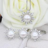 Best Freshwater Pearl Jewelry Sets With Necklace Earring Ring wholesale