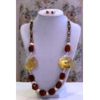 China Necklaces with Matching Earrings Cornelian with Fresh Water Pearls on sale