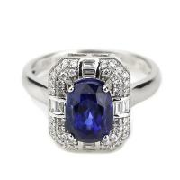 Best 925 silver fashion jewelry blue sapphire ladies zircon ring wholesale