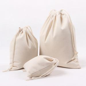 Cheap Cotton Canvas Drawstring Gift Bags for sale