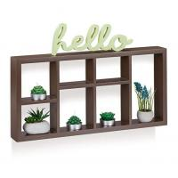 Buy cheap Floating wall frame Customizable wooden bookcase from wholesalers