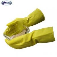 Best NMSAFETY long cuff household yellow latex rubber gloves for wash use wholesale