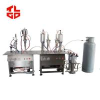 China Semi Automatic LPG Gas Butane Gas Filling Machine For Butane Gas Cassette / Refill Can on sale