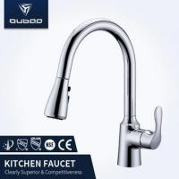 China Deck Mounted Single Lever Kitchen Taps With Spray on sale