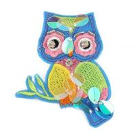 China Sew on Owl Beaded Patch on sale