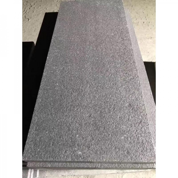 Cheap Granite Swan Black Flamed Absolute Black Granite Rough Antique Wall Pavers Floor Covering for sale