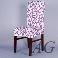 Best China customized patterned printed dining room chair seat covers slipcovers manufacture wholesale