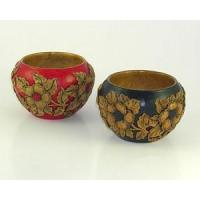 Best Bed & Bath Hand Carved Bowls with Flowering Dogwood Design wholesale