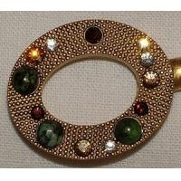 Best Gadgets & Tools Purse Hanger - Gold Oval with Ruby Ziosite and Swarovski Crystals wholesale
