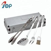 China Hot sell 4 pieces BBQ accessories stainless steel Grill BBQ tool sets on sale