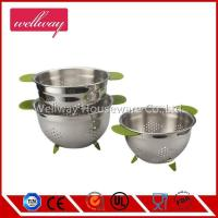 Best Stainless Steel Twin Handled Stainless Steel Colander, 20cm, 22cm, 24cm wholesale