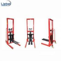 China Cheap 3 Ton Manual Forklift Hydraulic Pallet Stacker on sale