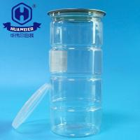 Buy cheap 34OZ 950ML 307# Good Quality Air Tight Plastic Clear PET Food Tube Round Cans from wholesalers