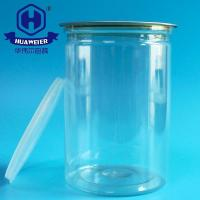 Buy cheap 35OZ 1000ML 401# Clear Canister Packaging PET Plastic Dried Fish Nuts Fruit Food Cans from wholesalers