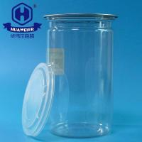Buy cheap 26OZ 740ML 307# PET Material Packaging Peel Off Ends Round Clear Plastic Tube Cans from wholesalers