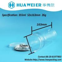 Buy cheap 12OZ 355ML Sweet Transparent Leak Proof Clear Tube Plastic PET Round EOE Cans from wholesalers