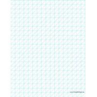 China Printable Oblique Graph Paper 0.5 Inch on sale