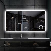 China S-3609 Frameless Large Led Bathroom Mirror with Lights and Magnifier on sale