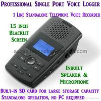 China Single Line Voice Logger SD Card Digital Telephone Voice Recorder Audio Playback on sale