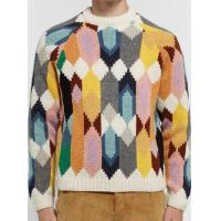 China Man's lambswool long sleeve round neck intarsia pullover sweater SD3022 on sale