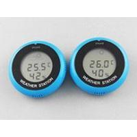 China LCD screen round magnet suction cup electronic thermometer and hygrometer on sale