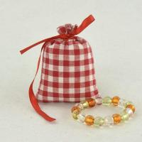 Best red ripstop fabric cotton jewelry bag with ribbon tie wholesale