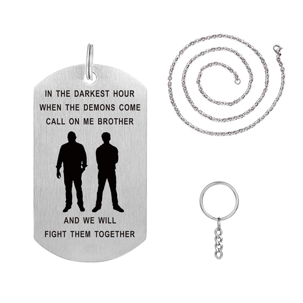 Best 2018 Online Store Fre er Dog Tag Necklace Keychain Idea for Men Boys Personalized 14960 wholesale