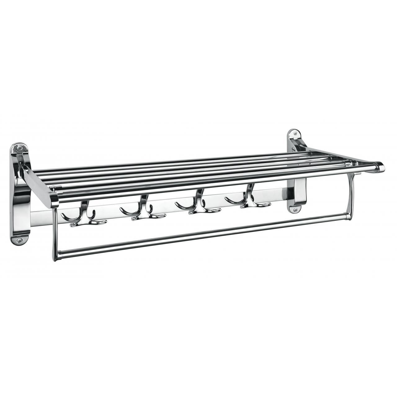 China sanitary wares 2105B moveable towel rack with hooks on sale