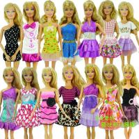 Best 5 Pcs Mix Sorts Beautiful Handmade Party Clothes Fashion Dress For Barbie Doll wholesale