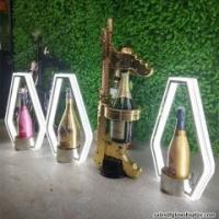 Buy cheap GlowDisplay Stainless Steel Glorifier Display VIP Champagne Bottle Presenter from wholesalers