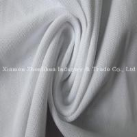 China China PC Double Jersey Pique Knitted Fabric White on sale