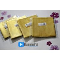 China per bag Golden embossing chocolate aluminum foil wrapping paper ferrero rocher packaging on sale